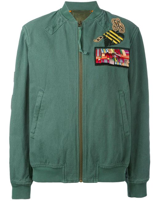 Mr & Mrs Italy Green Bomber With Patches