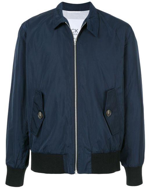 メンズ Calvin Klein ジップ ボンバージャケット Blue