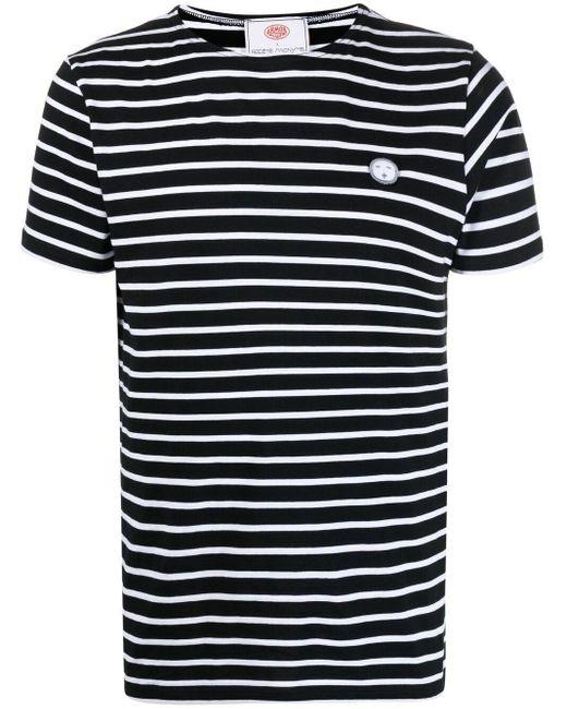 Societe Anonyme ストライプ Tシャツ Black