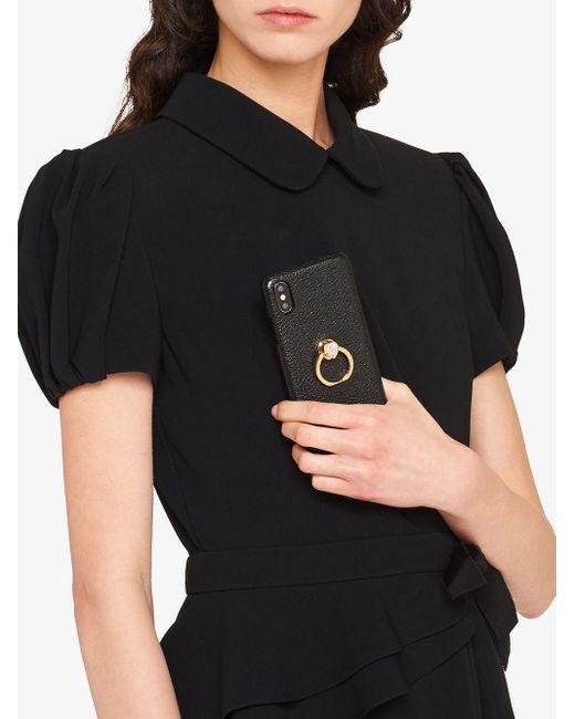 Miu Miu ビジュー Iphone X/xs ケース Black