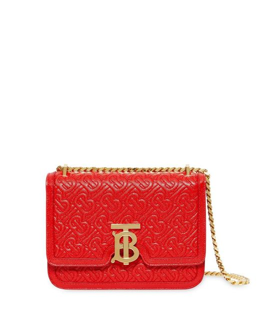 Burberry Tb モノグラム バッグ S Red