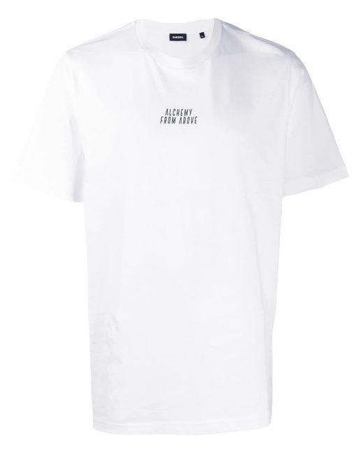 メンズ DIESEL Alchemy From Above Tシャツ White