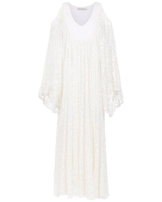 Martha Medeiros - White Embroidered Gown - Lyst