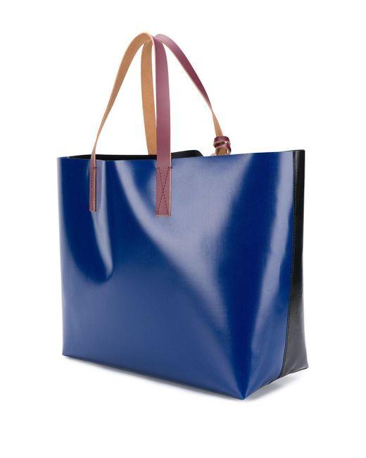 メンズ Marni カラーブロック ハンドバッグ Blue