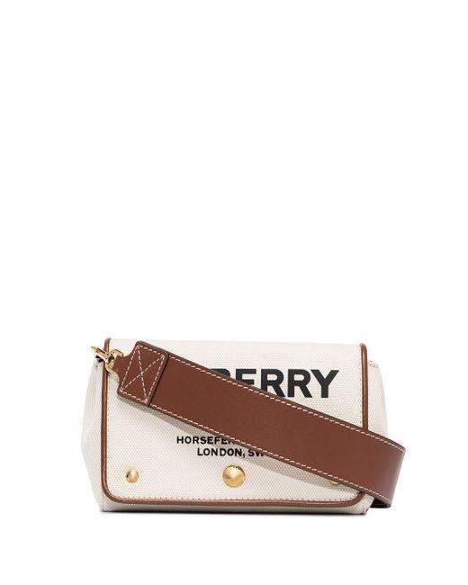 Маленькая Сумка Через Плечо Hackberry С Принтом Horseferry Burberry, цвет: Brown