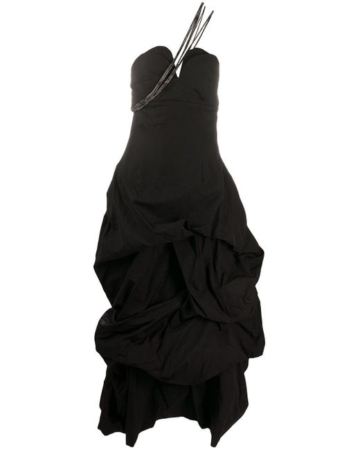 Yohji Yamamoto シャーリング ドレス Black
