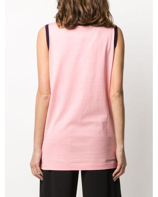Dolce & Gabbana プリント タンクトップ Pink