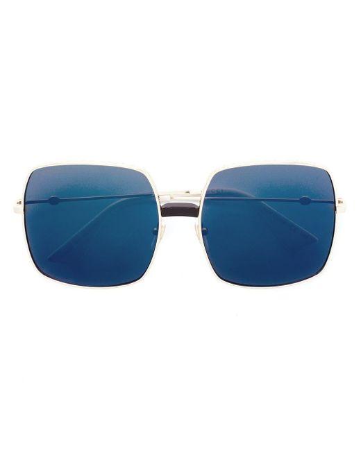 Gucci オーバーサイズ サングラス Blue