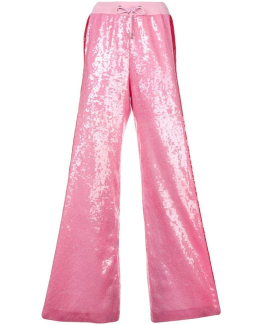 Alberta Ferretti スパンコール ワイドパンツ Pink