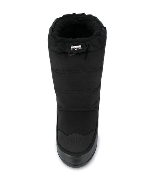 Stivali da neve con stampa di DSquared² in Black da Uomo