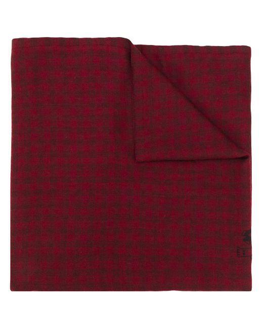 Etro チェック スカーフ Red