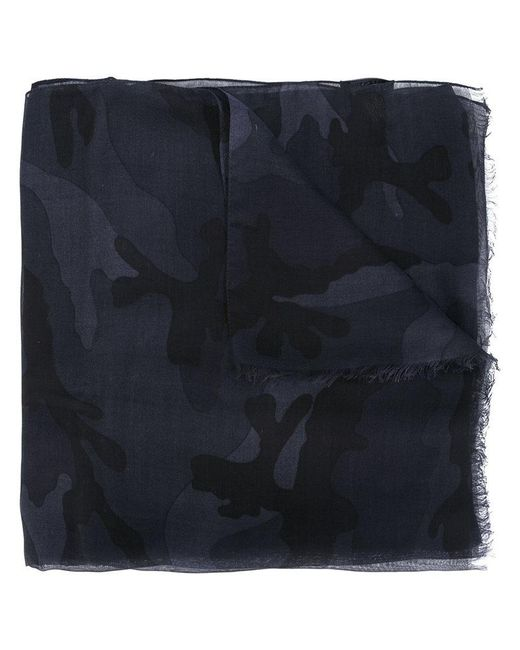 Valentino - Gray Garavani Camouflage Scarf for Men - Lyst