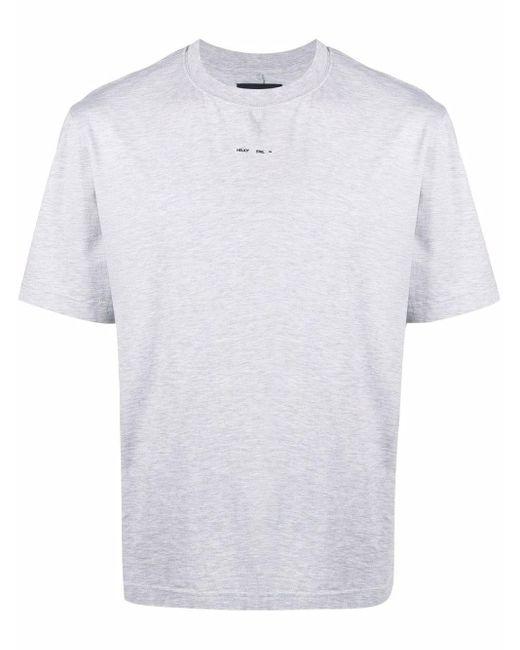HELIOT EMIL Gray Logo-print Cotton T-shirt