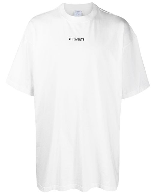 Camiseta con logo estampado Vetements de color White