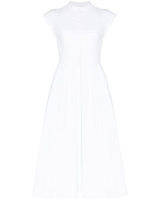 Alexander McQueen プリーツ ドレス White
