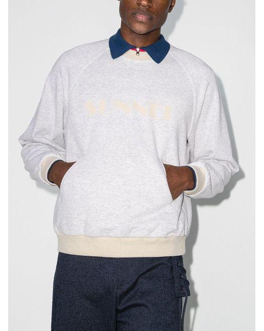 メンズ Sunnei ロゴ スウェットシャツ Gray