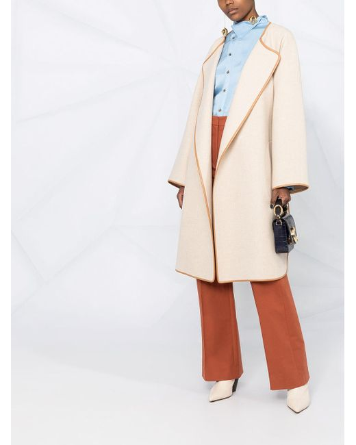 Chloé ベルテッド コート Natural