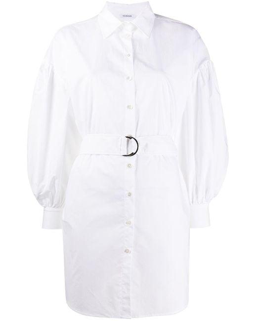 P.A.R.O.S.H. ベルテッド シャツドレス White