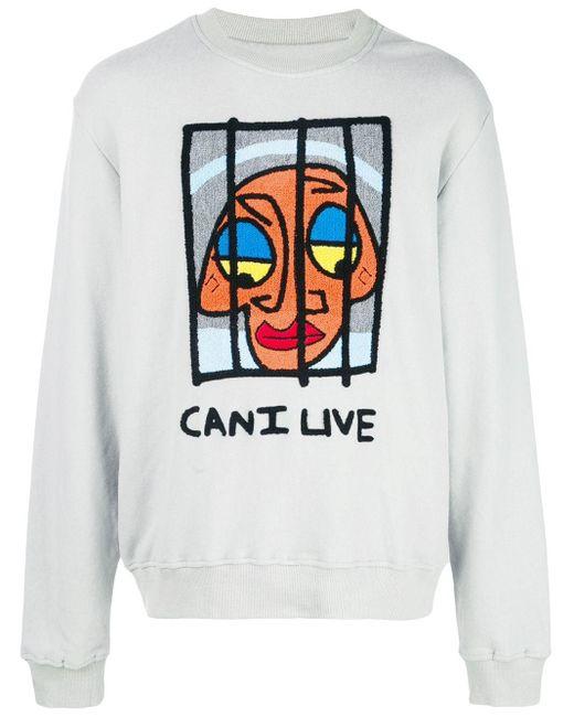 メンズ Haculla Can I Live スウェットシャツ Gray