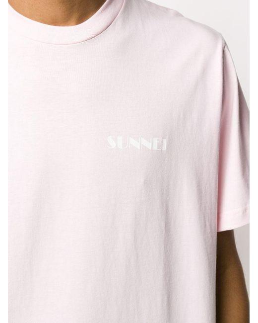 メンズ Sunnei ロゴ Tシャツ Pink