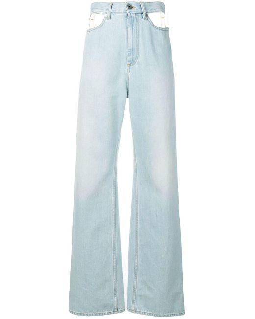 Maison Margiela カットアウト ワイドジーンズ Blue