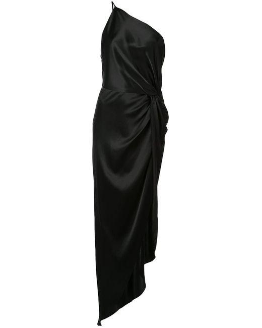 Michelle Mason ノット イブニングドレス Black
