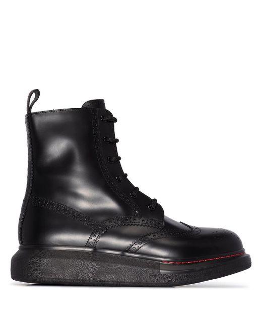 Ботинки На Шнуровке Alexander McQueen, цвет: Black
