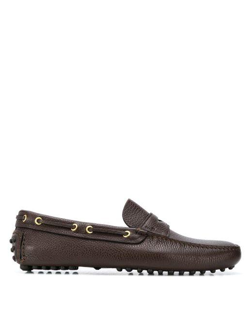 Мокасины С Квадратным Носком Car Shoe для него, цвет: Brown