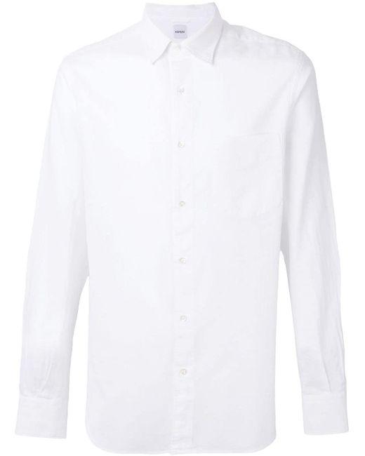 メンズ Aspesi パッチポケットシャツ White
