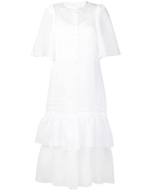 See By Chloé ラッフルヘム ドレス White