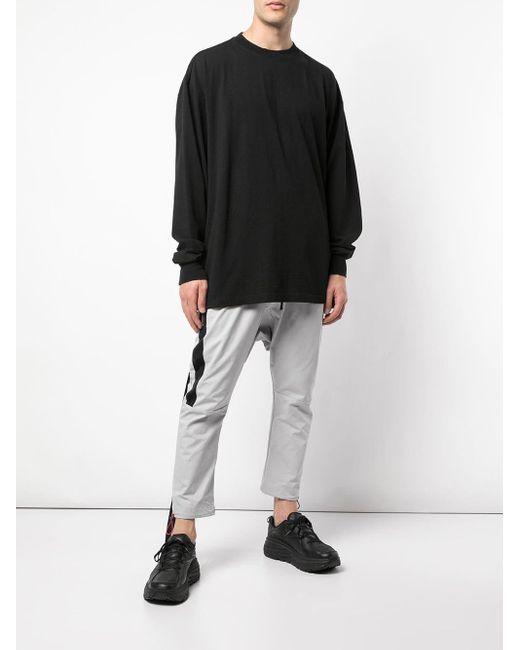 メンズ Unravel Project プリント ロングtシャツ Black