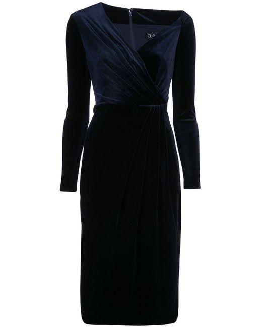 Cushnie ロングスリーブ ドレス Blue