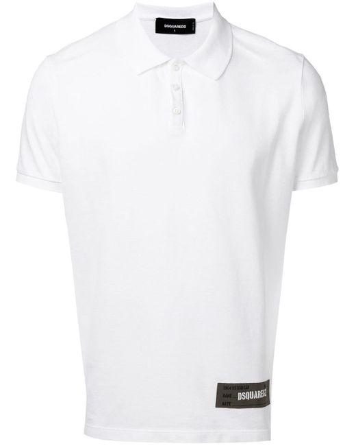 メンズ DSquared² ロゴ ポロシャツ White