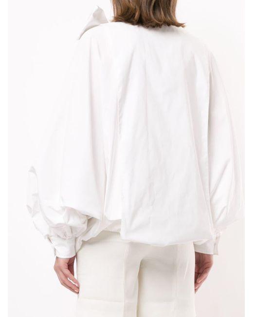 Valentino パフスリーブ ブラウス White