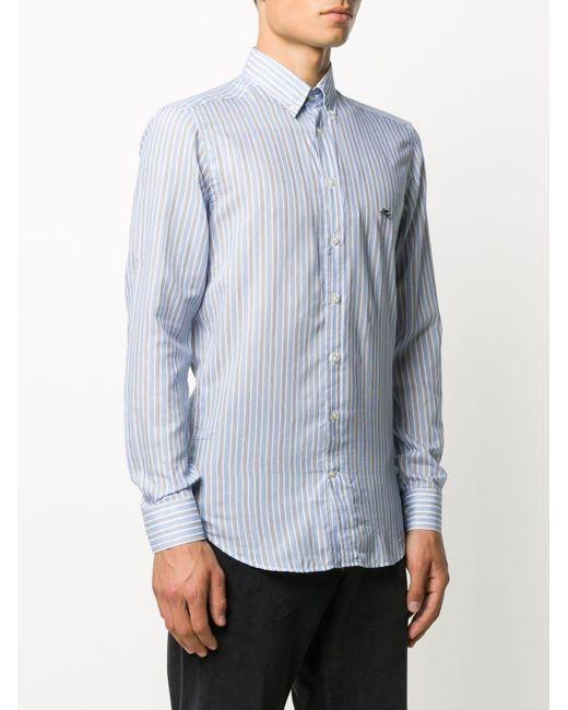 Полосатая Рубашка С Логотипом Etro для него, цвет: Blue