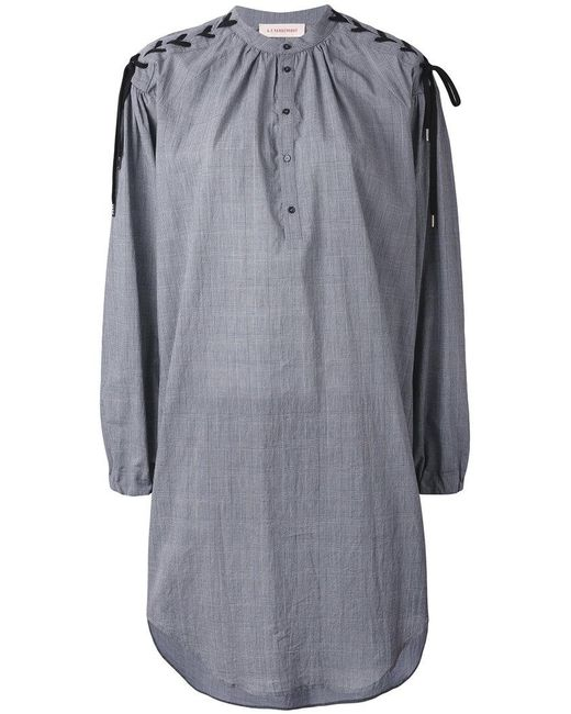 A.F.Vandevorst | Gray Shirt Dress | Lyst