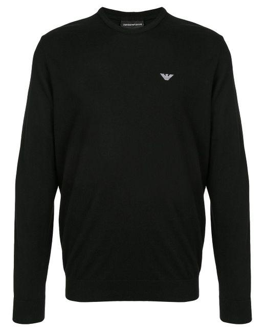 メンズ Emporio Armani ロゴ プルオーバー Black