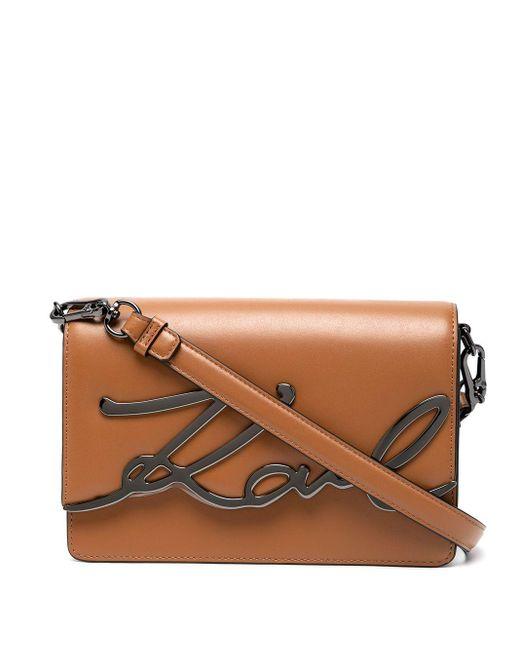 Karl Lagerfeld K/signature ショルダーバッグ Brown