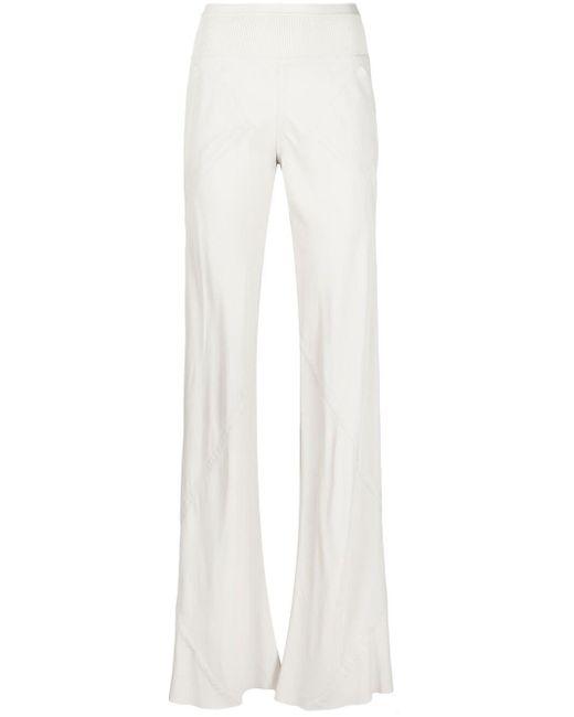 Pantaloni a coste di Rick Owens in White