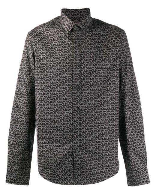 Camisa slim con logo estampado Michael Kors de hombre de color Gray