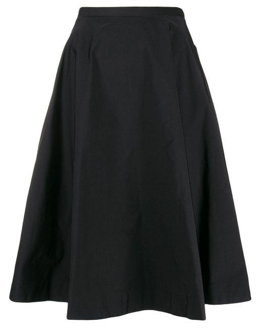 N°21 ハイウエスト フレアスカート Black
