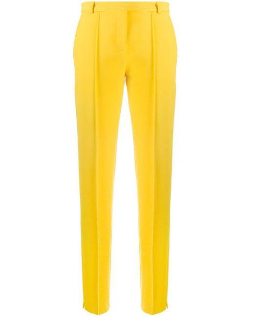 Styland ハイウエスト テーラードパンツ Yellow