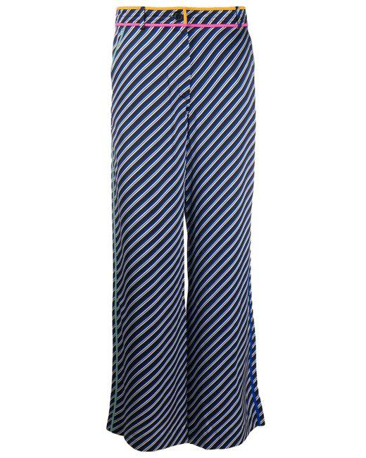 Tory Burch ストライプ ワイドパンツ Blue
