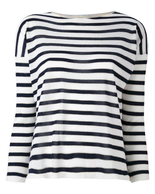 Giada Benincasa - White Striped Jumper - Lyst