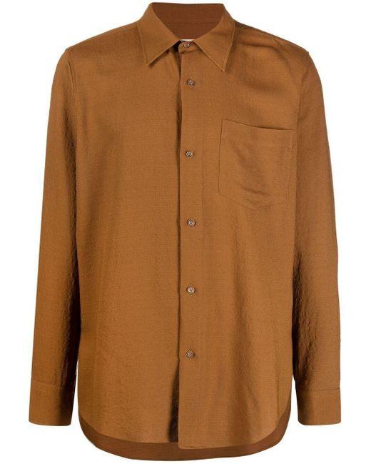 Рубашка Свободного Кроя AMI для него, цвет: Brown