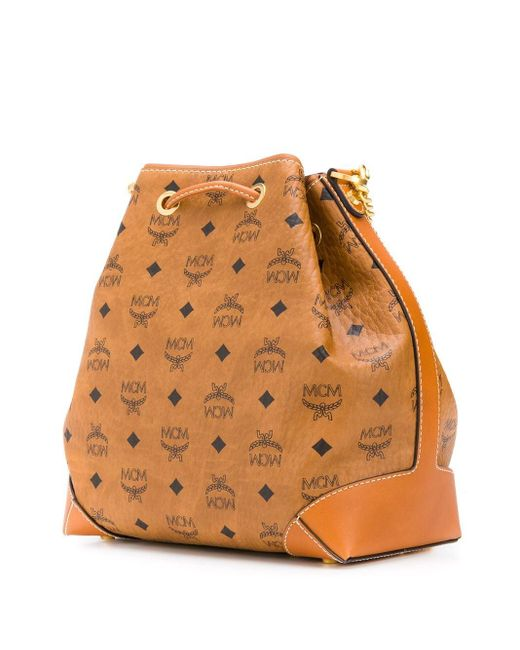MCM Essential バケットバッグ Brown