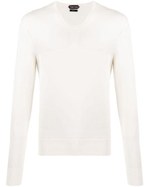 メンズ Tom Ford スクープネック セーター White