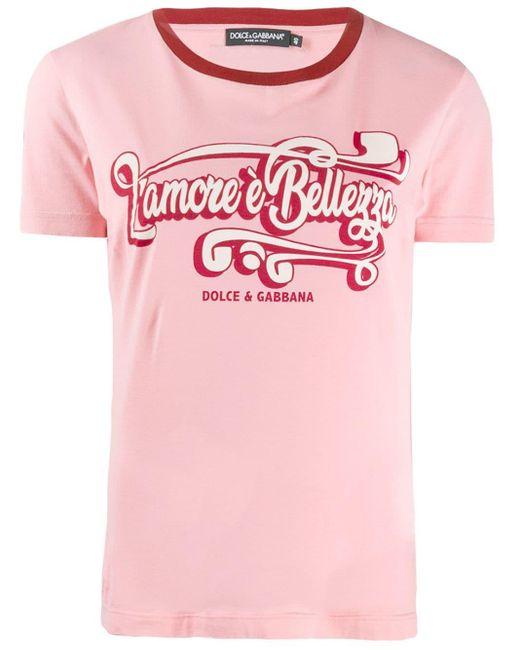Dolce & Gabbana プリント Tシャツ Pink
