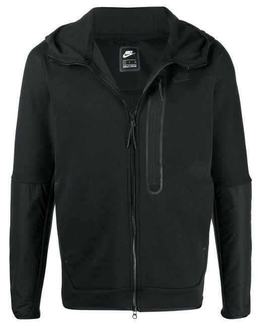Nike Black Sportswear Tech Fleece Full-zip Hoodie for men