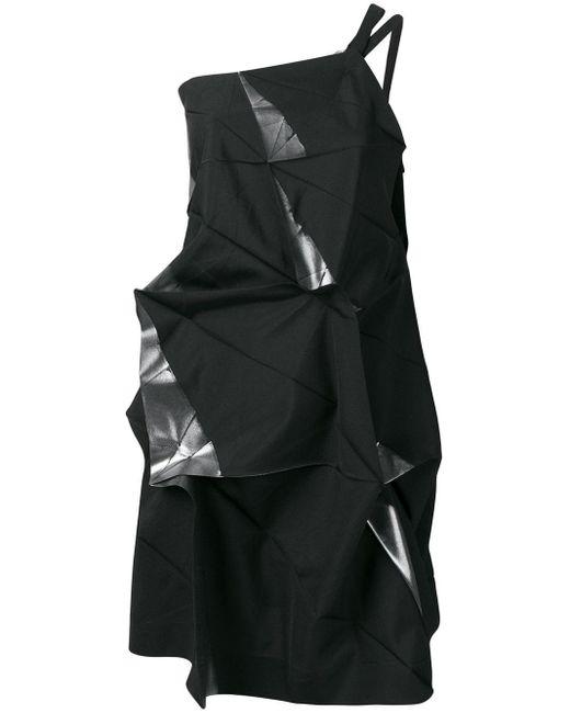 Top monospalla di Issey Miyake in Black